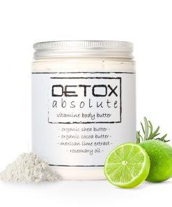 Vitamínové telové maslo DETOX absolute so sviežou citrusovou vôňou Mexický limetkový esenciálny olej spolu s rozmarínom lekárskym dodajú nielen osviežujúcu bylinkovo-citrusovú vôňu, ale podporujú aj prečistenie lymfatického systému a prekrvenie pokožky