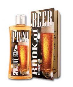 Pivný sprchový gél knižné vydanie, prírodná kozmetika, originálny darček pre ženy i mužov z pivných kvasníc a chmeľu. Má hydratačné, antiseptické a hojivé účinky