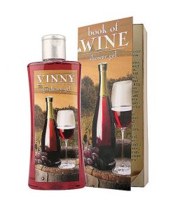 Sprchový gél vínový knižné vydanie - revolučné balenie darčekového sprchového gélu Olejový sprchový gel s obsahom hroznového oleja a extraktu z hrozna
