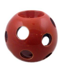 Aromalampa červená guľa lesklá, moderný elegantný bytový doplnok. Možno použiť ako svietnik na čajovú sviečku. Darček pre ženu i muža