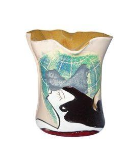 Aromalampa ručne maľovaná Žena je milá, menšia aromalampa, je vhodná ako darček pre ženu. Elegantný moderný bytový doplnok