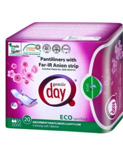 Anionové vložky absorbčné intímky 20 ks, bavlnené, bez chlóru - antibakteriálne a protizápalové Vhodné na každodenné nosenie pri slabšom výtoku.