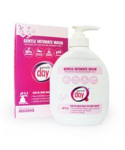 Emulzia Gentle Day® na intímnu hygienu pH 5 – 5,5 zodpovedá prirodzenému prostrediu vašich intímnych partií, nedráždi sliznicu, obnoví vašu prirodzenú rovnováhu a posilní vašu obranyschopnosť.