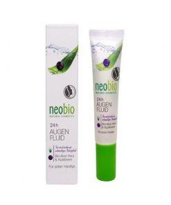 Neobio 24h anti-age očný fluid, BIO kozmetika na vrásky okolo očí. Rozmaznáva jemnú pokožku okolo očí, dôkladne ju hydratuje, s BIO aloe vera a BIO acai