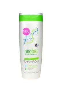 Neobio šampón Sensitive s BIO aleo vera. Bez vône. Šampón je vhodný najmä na citlivú, podráždenú a suchú pokožku hlavy. Rastlinný glycerín zachováva rovnováhu vlhkosti v pokožke hlavy. Vhodný pre každodenné použitie. Vhodné aj pre staršie deti.