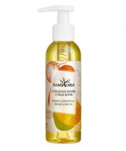 Organický masážny olej Plody šťastia s citrusmi a zeleným čajom. Zažite niečo výnimočné. Niečo, čo ocení vaša pokožka i myseľ. VEGAN