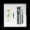 Aloe vera box ústnej hygieny obsahuje Aloe Vera ESSENS Zubná pasta, Aloe Vera Ústna voda, Zubná kefka antibakteriálna Ultra Soft 2ks
