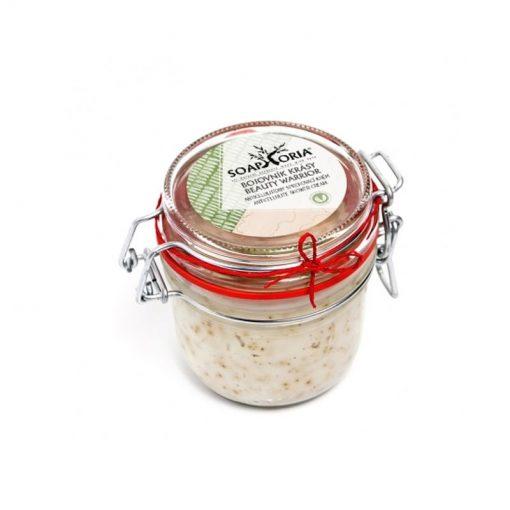 Organický sprchovací krém Bojovník krásy na spevnenie pokožky pri celulitíde, po pôrode, po chudnutí. Bez sulfátov, bez chémie, 100% prírodná kozmetika