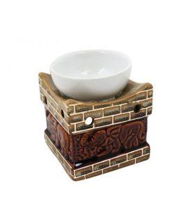 Aromalampa SLON hnedá keramická s extra hlbokou miskou, je vhodná ako darček pre ženu i muža. Elegantný moderný bytový doplnok