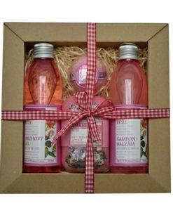 Darčeková kazeta Ruža Botanico - originálny darček pre každú ženu. Obsahuje sprchový gél Ruža 200 ml, šampón Ruža 200 ml , Ruža mydlo 200, guľu do kúpeľa.Darčeková kazeta Ruža Botanico - originálny darček pre každú ženu. Obsahuje sprchový gél Ruža 200 ml, šampón Ruža 200 ml , Ruža mydlo 200, guľu do kúpeľa.