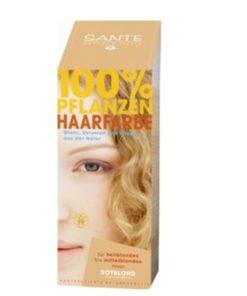 SANTE Prášková farba na vlasy blond, bio prírodná farba na vlasy, ktorá vlasy neničí, ale vyživuje, farbí a chráni. Vytvára ochranný film na vlasoch