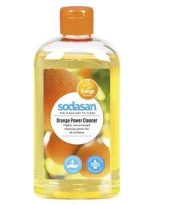 Univerzálny čistiaci prostriedok ORANGE na všetky povrchy, EKO drogeria. Bez farbív a konzervačných látok, dobrá odmasťovacia schopnosť, pomarančová vôňa
