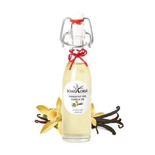 Vanilkový olej prírodný s exotickou vôňou vanilky, ukľudňuje telo i myseľ, podporuje činnosť mozgu a má taktiež afrodiziakálne účinky, pomáha proti únave