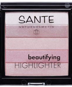 Beautifying Highlighter práškový 02 ROSE - bio dekoratívna kozmetika, pre profesionálne nalíčenú, žiarivú pleť. 5 dokonalých odtieňov rozjasní tvár.