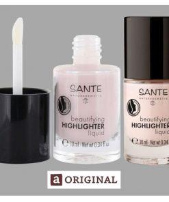 Beautifying tekutý highlighter pre žiarivú pleť s s obsahom hroznového oleja a vôňou magnólie zanecháva pleť žiarivú a farebne zjednotenú. VEGANSKA kozmetik