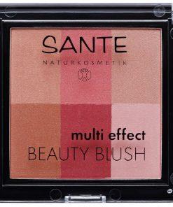 Farba na líčka 02 Cranberry Multi Effect Beauty - bio dekoratívna kozmetika. Zamatovo jemná textúra púdru v 6 odtieňoch pre dokonalý vzhľad pleti, žiarivá
