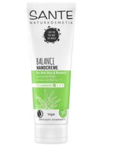 BIO krém na ruky BALANCE SANTE 100% biokozmetika, má zásadité pH, podporuje acidobázickú rovnováhu pokožky. Hydratuje a chráni ju pred nadmerním vysúšaním.
