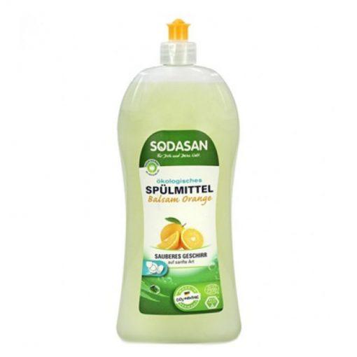 Sodasan EKO umývanie riadu Pomaranč, ekologický prostriedok na riad. VEGAN. EKO drogéria, EKOcert. Žiadne zbytky nežiadúcich chemických látok