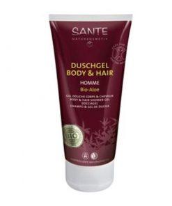 BIO sprchový gél a šampón HOME aloe vera a biely čaj. Osviežuje a čistí pokožku a vlasy bez podráždenia. BIO šampón na vlasy, bio sprchový gél, bez chémie