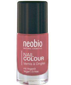 Neobio lak na nechty 03 Wonderful Coral, prírodné laky na nechty Neobio, trvácny bez formaldehydu a toluenu nechty nevysušuje, zabraňuje lámaniu, štiepeniu