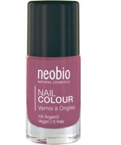Neobio lak na nechty 04 Lovely Hibiscus, prírodné laky na nechty Neobio, trvácny bez formaldehydu a toluenu nechty nevysušuje, zabraňuje lámaniu, štiepeniu
