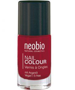 Neobio lak na nechty 05 Wild Strawberry, prírodné laky na nechty Neobio, trvácny bez formaldehydu a toluenu nechty nevysušuje, zabraňuje lámaniu, štiepeniu