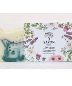 Prírodné mydlo Limetka Rozmarín SAVON - slovenská prírodná kozmetika na telo a tvár, vegánska kozmetika. Rozmarínové mydlo s príjemnou vôňou limetky