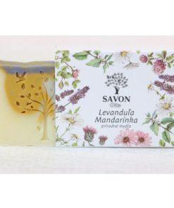 Prírodné mydlo Levanduľa Mandarínka SAVON - slovenská prírodná kozmetika na telo a tvár, vegánska kozmetika. Pomáha odbúravať stres, má antidepresívne účinky