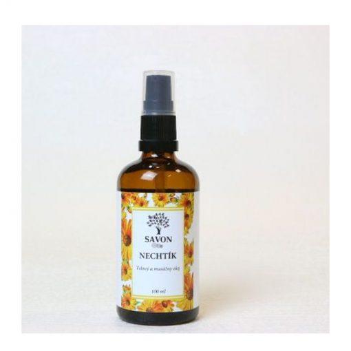 Telový masážny olej Nechtík - prírodná kozmetika zo Slovenska. Ošetruje najjemnejšiu, aj detskú pokožku, zanecháva ju vyživenú a hebkú. Vhodný pre bábätká