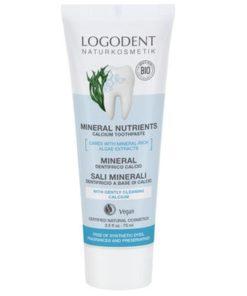 BIO zubná pasta Mineral Nutrients Calcium, bez sulfátov, bez chémie. Zabraňuje vzniku zubného kazu a tvorbe zubného kameňa. S morskou soľou