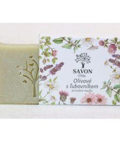 Prírodné mydlo olivové s ľubovnikom SAVON, mydlo bez chémie. Slovenská prírodná kozmetika na telo a tvár. Mydlo je vhodné na citlivú, suchú pokožku, ekzém
