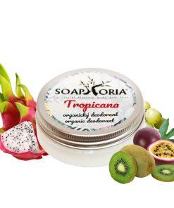 Tropicana organický krémový deodorant, limitovaný, prírodný deodorant, antiperspirant bez hliníka - 100% prírodný deodorant bez hliníkových solí a parabénov.