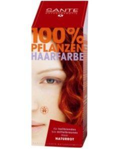 Prášková farba na vlasy Červená - prírodná farba na vlasy, ktorá vlasy neničí, ale vyživuje, farbí a chráni. Vytvára ochranný film na vlasoch, dodáva