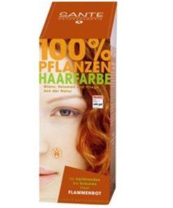 Prášková farba na vlasy ohnivo červená - prírodná farba na vlasy, ktorá vlasy neničí, ale vyživuje, farbí a chráni. Vytvára ochranný film na vlasoch,