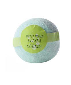 Guľa kúpeľová Litsea Cubeba, prírodná kozmetika na suchú pokožku. Šumivá kúpeľová guľa ponúka dokonalú starostlivosť a uvoľnenie celému telu.