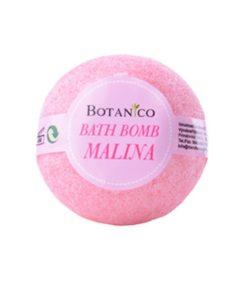 Guľa kúpeľová Malina, prírodná kozmetika na suchú pokožku. Šumivá kúpeľová guľa ponúka dokonalú starostlivosť a uvoľnenie celému telu.