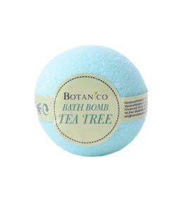 Guľa kúpeľová Tea Tree, prírodná kozmetika na suchú pokožku. Šumivá kúpeľová guľa ponúka dokonalú starostlivosť a uvoľnenie celému telu.