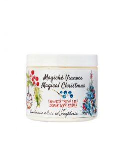 Magické Vianoce - organické telové suflé. Vianoce 2018. Ponorte sa do vône omamnej vanilky, pomaranča s korenistou škoricou a badiánom. Vianoce 2018