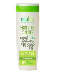 Neobio KIDS telové mlieko nechtík, BIO prírodné telové mlieko bez chémie. Obsahuje bambuckým maslo a mandľovým olejom. Bez silikónov a parabénov!