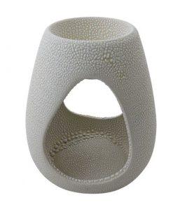 Aromalampa bledá kónusová keramická s extra hlbokou miskou, je vhodná ako darček pre ženu i muža. Elegantný moderný bytový doplnok