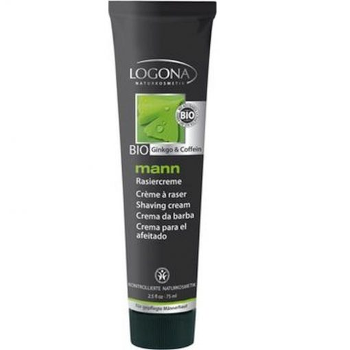 BIO krém na holenie MANN kofein a ginko. Pánska BIO kozmetika na holenie. Optimálne pripravuje pleť na holenie, chráni pred podráždením. Extra jemný