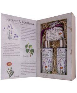Darčeková kazeta Levanduľa. Kozmetický darčekový balíček je originálne vymyslený ako knižka. Originálny darček pre ženu, z výrobkov prémiovej kozmetiky