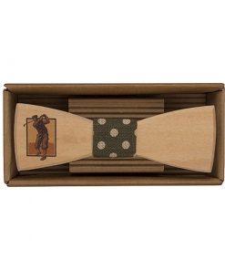 Drevený motýlik Golfista - originálny darček pre muža. Ľahká, hravá móda, nevtieravý šarm a elegancia. S dreveným motýlikom nič nepokazíte. Aj na svadbu.
