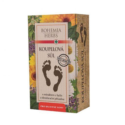 Kúpeľová soľ do kúpeľa na unavené nohy pri plesniach, zápachu, s dezodoračným účinkom a antibakteriálnou prísadou. Vhodný pri odstraňovaní stvrdnutých častí