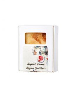 Magické Vianoce - prírodné mydlo. Vianoce 2018. Ponorte sa do vône omamnej vanilky, pomaranča s korenistou škoricou a badiánom. Prírodná kozmetika