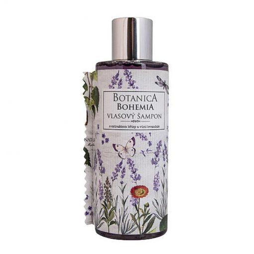 Vlasový šampón levanduľa a brezový extrakt, žihľava, nechtík, rumanček a nechtík - bez parabénov. Jemný šampón pre druhy a typy vlasov