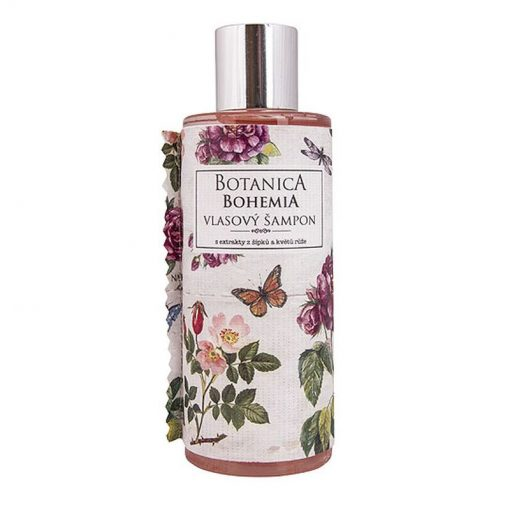Vlasový šampón šípky a ruža s extraktom z plodov šípok a kvetov ruže. Moderná, svieža vôňa. Obsahuje flavonoidy, ovocné kyseliny. Bez parabénov