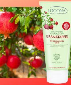 Spevňujúce BIO telové mlieko granatové jablko + Q10. Vegánska kozmetika. Hydratuje a ošetruje pokožku, chráni ju pred negatívnymi vplyvmi voľných radikálov