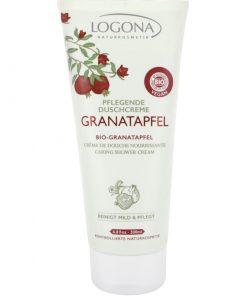 Spevňujúci BIO sprchový krém granatové jablko + Q10. Vegánska kozmetika. Hydratuje a ošetruje pokožku, chráni ju pred negatívnymi vplyvmi voľných radikálov