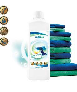 EKO aviváž Fresh koncentrát - vysoko koncetrovaná, vhodná pre vegánov. Neobsahuje fosfáty ani bielidlá, chlór, farbivá, EDTA a NTA, netoxický